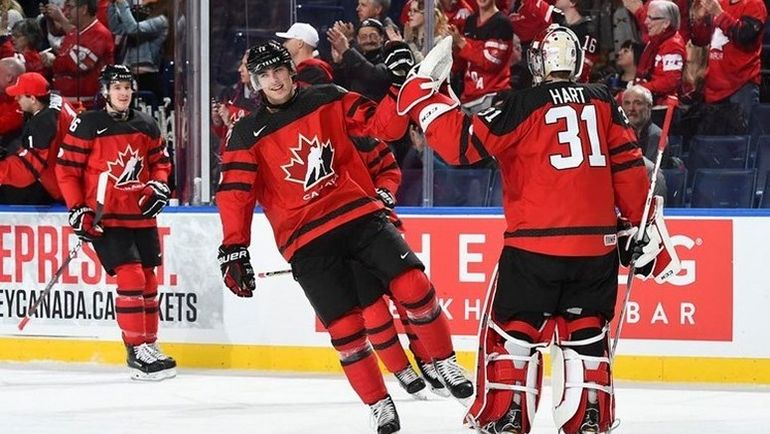Вторник. Баффало. Канада – Финляндия – 4:2. Канадцы начали МЧМ с победы. Фото 2018.worldjunior.hockey