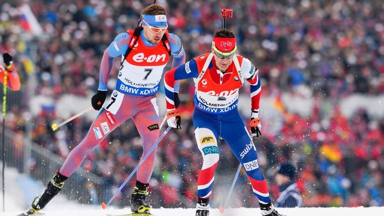 Антон ШИПУЛИН (№7) и Оле Эйнар БЬОРНДАЛЕН. Фото AFP