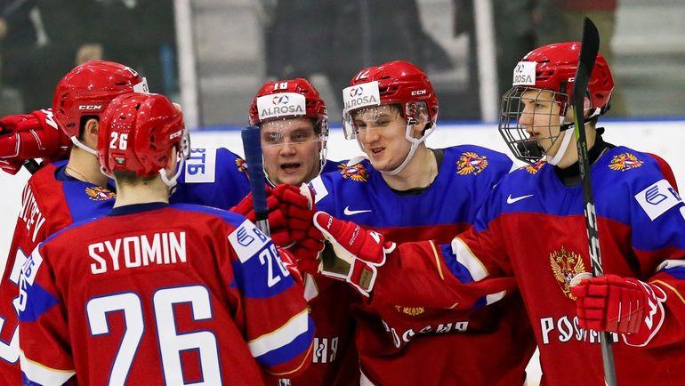 Сборная России одержала первую победу на молодежном чемпионате мира. Фото Официальный сайт ФХР
