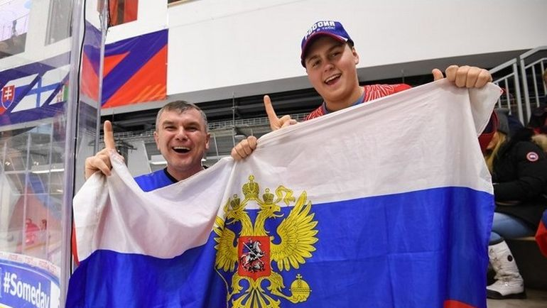 Четверг. Баффало. Россия - Швейцария - 5:2. Болельщики сборной России. Фото 2018.worldjunior.hockey