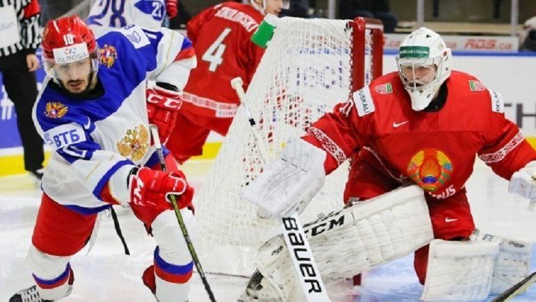 Сегодня. Баффало. Белоруссия - Россия - 2:5. Россияне снова забросили пять шайб. Фото ФХР