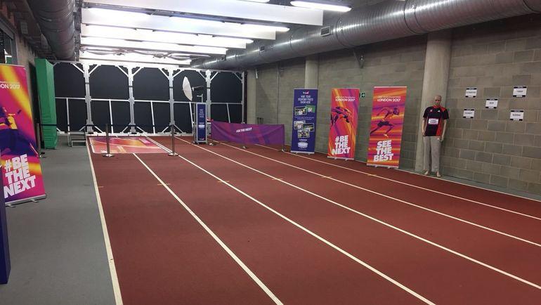 """Беговая дорожка, на которой Усэйн Болт стал олимпийским чемпионом в 2012 году. Фото Гоша ЧЕРНОВ, """"СЭ"""""""
