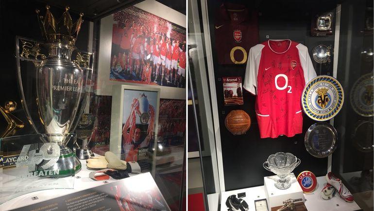 """Значительная часть экспозиции музея """"Арсенала"""" посвящена сезону-2003/04, в котором лондонцы ни разу не проиграли. Фото Гоша ЧЕРНОВ, """"СЭ"""""""