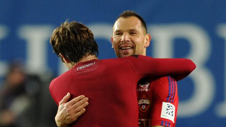 Сергей ИГНАШЕВИЧ (справа) и МАРИУ ФЕРНАНДЕС. Фото Алексей ИВАНОВ