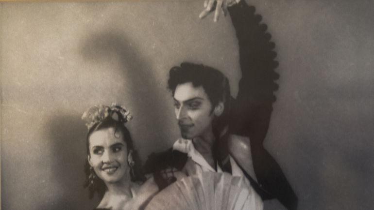 Начало 50-х. Владимир КУДРЯШОВ на сцене Большого театра. Фото из архива Владимира Кудряшова