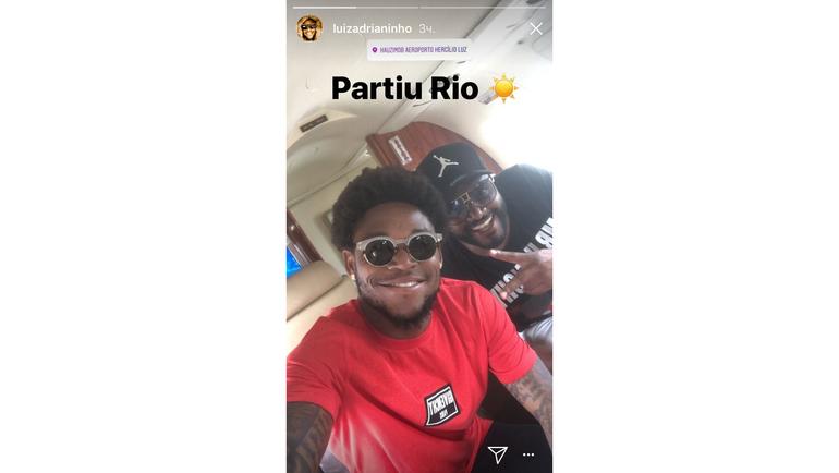 Луиз АДРИАНУ летит в Рио. Фото instagram.com/
