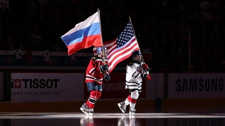 Россия vs США - в четвертьфинале. Фото IIHF