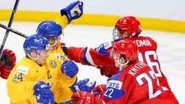 Сегодня. Баффало. Россия - Швеция - 3:4 Б. Россияне не смогли занять первое место в группе для чего требовалось победить шведов с разностью в две шайбы..