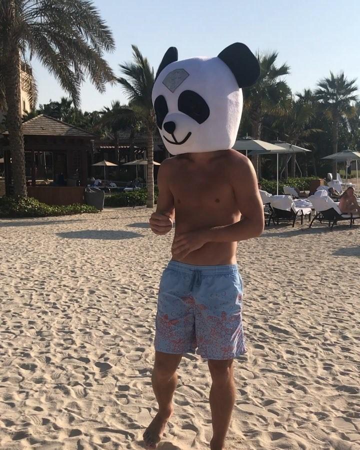 Александр КОКОРИН в маске панды. Фото instagram.com