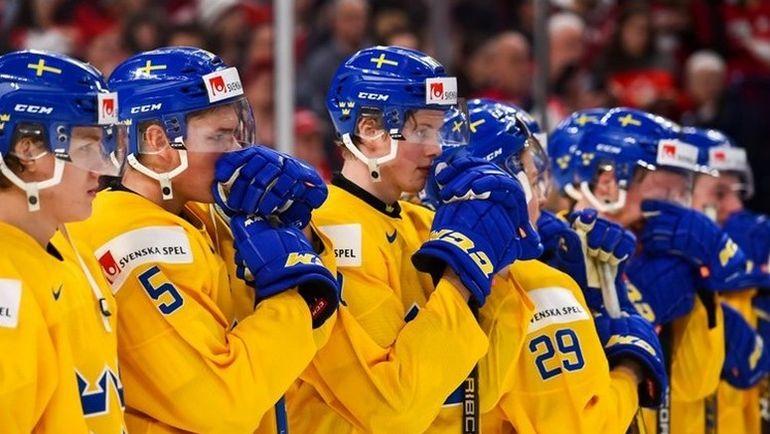 Пятница. Баффало. Швеция - Канада - 1:3. Разочарование шведов, которые проиграли в финале молодежного чемпионата мира. Фото 2018.worldjunior.hockey