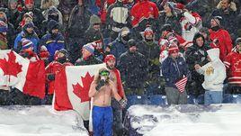 29 декабря 2017 года. Баффало. Канада - США - 3:4 Б. Фанаты молодежной сборной Канады.
