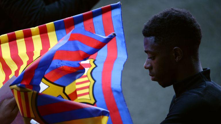 "Нападающий ""Барселоны"" Усман ДЕМБЕЛЕ. Фото AFP"