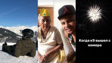 Смолов в горах, Ари в гостях у дедушки и бабушки, салют в честь Кокорина