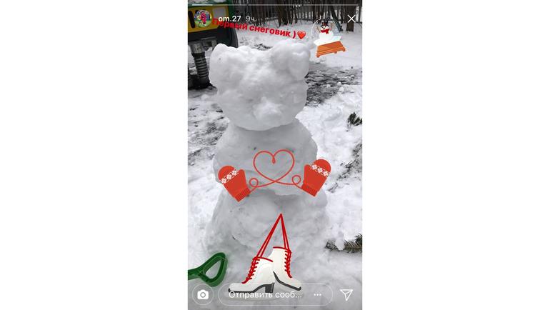 Снеговик Магомеда Оздоева. Фото instagram.com/