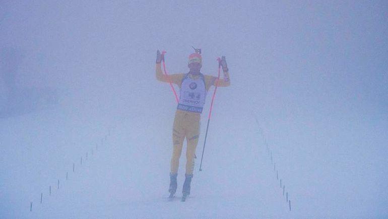 Сегодня. Оберхоф. Туманный финиш Федерика ЛИНДСТРЕМА. Фото AFP