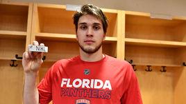 """Воскресенье. Коламбус. """"Коламбус"""" – """"Флорида"""" – 3:2 Б. Нападающий """"Пантер"""" Максим МАМИН провел первую встречу в НХЛ."""