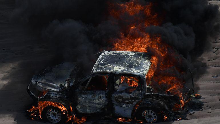"""Нам неизвестно, из-за чего возникло возгорание"", - заметила Алисия Рейна. Фото AFP"