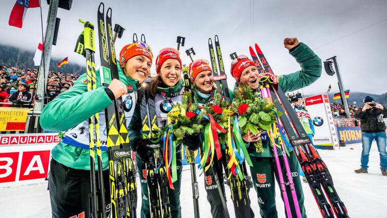 Сборная Германии выиграла домашнюю эстафету. Фото Biathlonworld.com