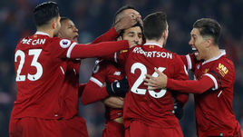 """Сегодня. Ливерпуль. """"Ливерпуль"""" - """"Манчестер Сити"""" - 4:3. """"Красные"""" нанесли """"горожанам"""" первое поражение в сезоне."""