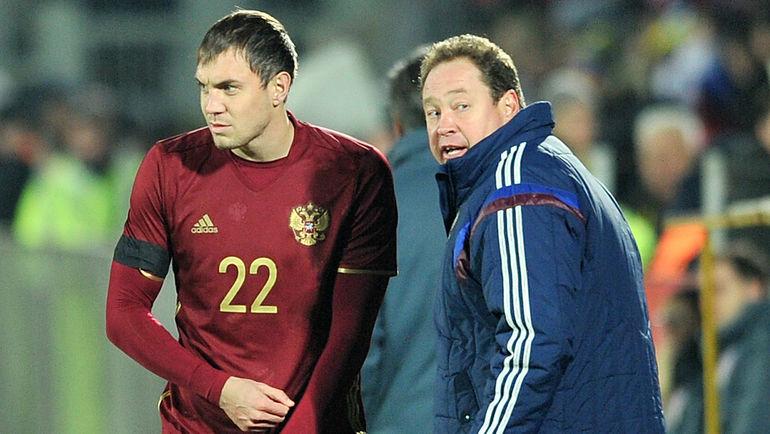 Артем ДЗЮБА (слева) и Леонид СЛУЦКИЙ. Фото Алексей ИВАНОВ