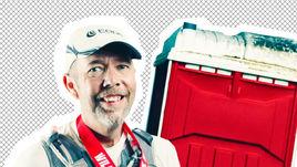 Американский бегун побеждал в марафонах, прячась в туалете