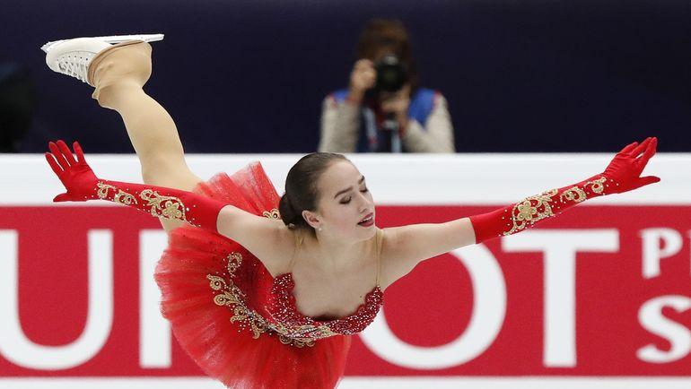 Суббота. Москва. Алина ЗАГИТОВА - чемпионка Европы. Фото REUTERS