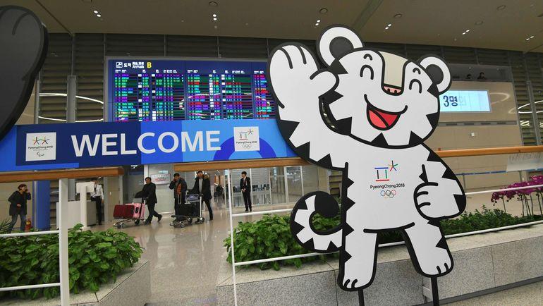 Талисман Олимпиады-2018 в Пхенчхане готов встречать участников и гостей Игр. Фото AFP