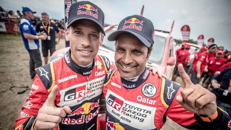 Мэттью Бомел (слева) и Нассер Аль-Аттия (Toyota Gazoo Racing).