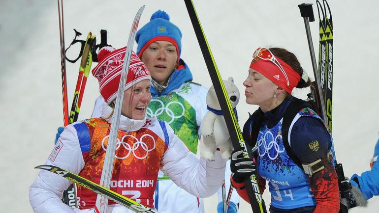 Яна РОМАНОВА (слева), Ольга ЗАЙЦЕВА (в центре) и Ольга ВИЛУХИНА. Фото Федор УСПЕНСКИЙ,
