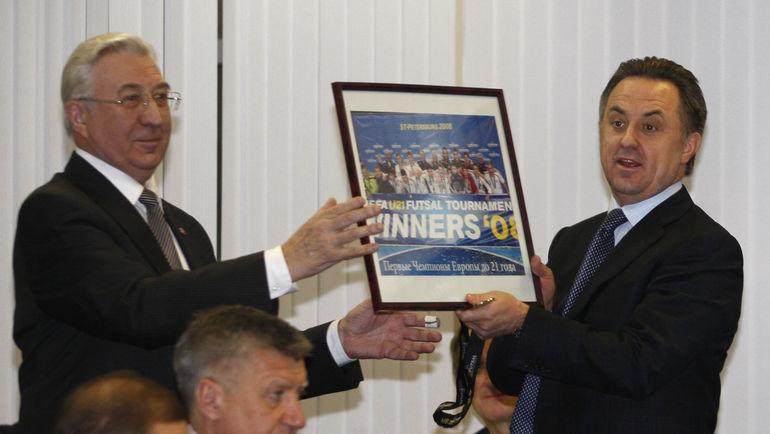"Семен АНДРЕЕВ (слева) и Виталий МУТКО. Фото Александр ФЕДОРОВ, ""СЭ"""