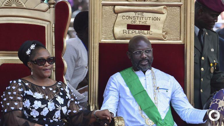 Вчера. Монровия. Инаугурация президента Либерии Джорджа ВЕА.