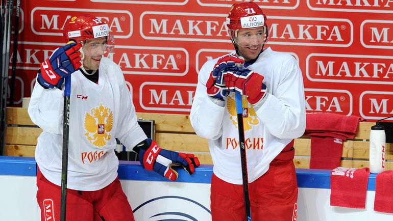 """Павел ДАЦЮК (слева) и Илья КОВАЛЬЧУК. Фото Алексей ИВАНОВ, """"СЭ"""""""