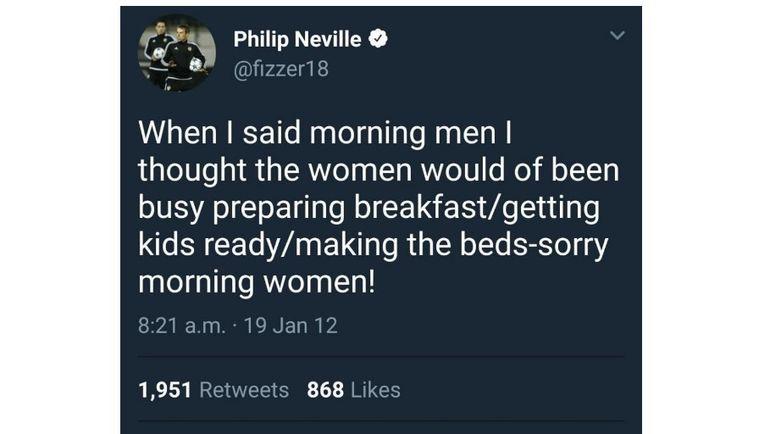 Сообщение Фила НЕВИЛЛА в Твиттере. Фото joe.co.uk
