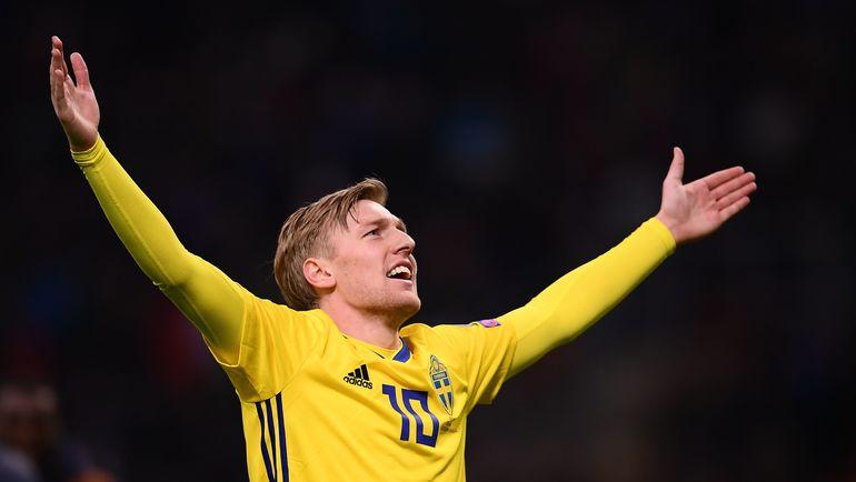 Одна из главных звезд сборной Швеции Эмиль ФОРСБЕРГ. Фото AFP