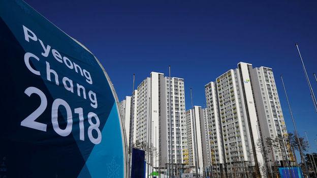 Вчера. Пхенчхан. Вид на олимпийскую деревню. Фото Reuters