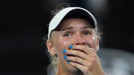 Слезы Возняцки после победы в Мельбурне
