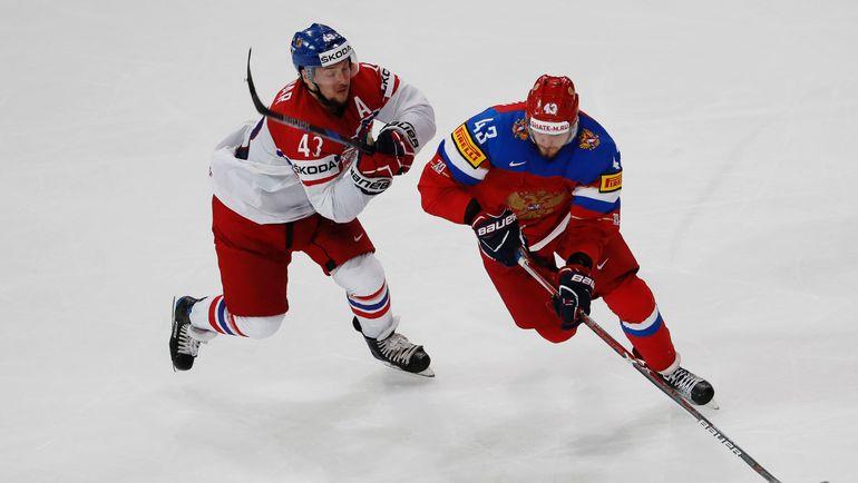 Ян КОВАРЖ (слева, против неприглашенного МОК на Олимпиаду Валерия НИЧУШКИНА). Фото AFP