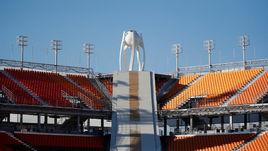 Стадион в Пхенчхане готовится принять церемонии открытия и закрытия Олимпийских и Паралимпийских игр.