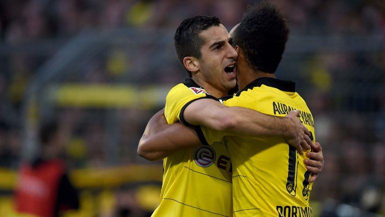 Будут ли Пьер-Эмерик ОБАМЕЯНГ (справа) и Генрих МХИТАРЯН снова играть в одной команде? Фото AFP