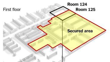 Схема передачи допинг-проб в лаборатории Сочи из места их хранения (помещение 125) в офис Григория Родченкова и его помощников (офис 124). Фото twitter.com/GammaCounter