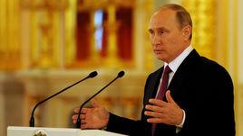 Встреча Владимира Путина и сборной Олимпийских атлетов из России.