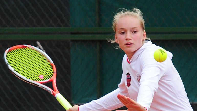 18-летняя россиянка Елена РЫБАКИНА стартовала на турнире в Санкт-Петербурге с двух побед. Фото Никита УСПЕНСКИЙ