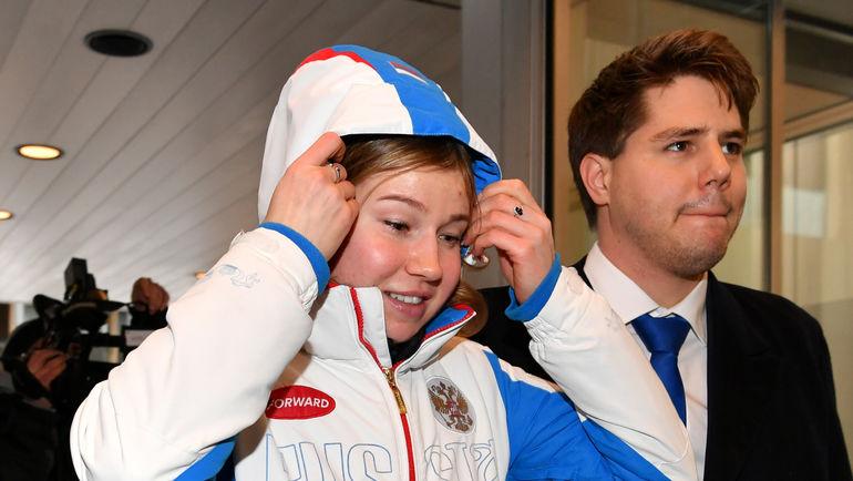 Конькобежка Ольга ФАТКУЛЛИНА на слушаниях в CAS. Фото AFP