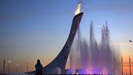 Олимпийский огонь в Сочи.