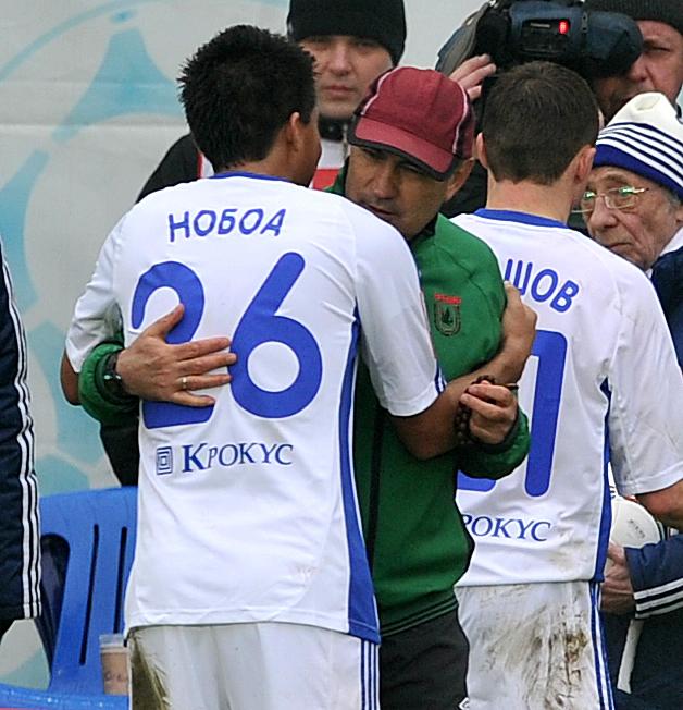 Кристиан НОБОА и Курбан БЕРДЫЕВ. Фото Алексей ИВАНОВ