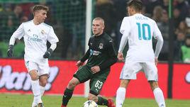 """Среда. Краснодар. """"Краснодар"""" - """"Реал"""" - 0:0. По пенальти - 0:3. Никита СЕРГЕЕВ со своими партнерами был в шаге от сенсации."""