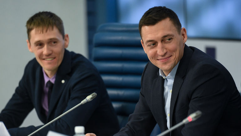 "Никита КРЮКОВ и Александр ЛЕГКОВ. Фото Дарья ИСАЕВА, ""СЭ"""