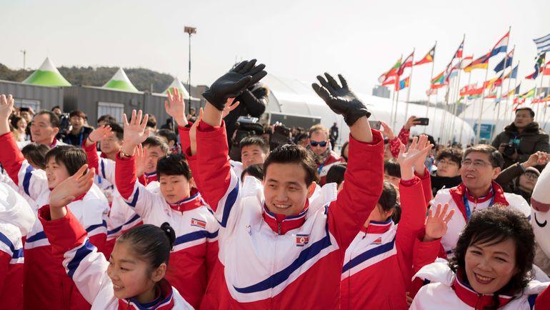 Делегация из Северной Кореи. Фото AFP