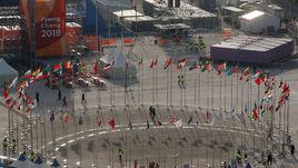 Сегодня. Пхенчхан. Флаги участвующих стран.