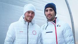 Четверг. Пхенчхан. Антон БАБИКОВ (слева) и Мартен ФУРКАД.